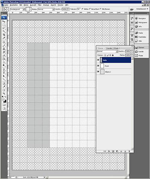 3D Box erstellen Schritt 1