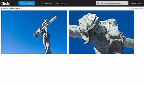 Screenshot des Wed-Foto-Verwlatungsdienstes Flickr