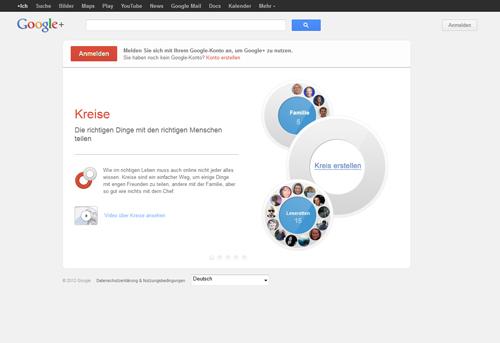Screenshot plus.google.com