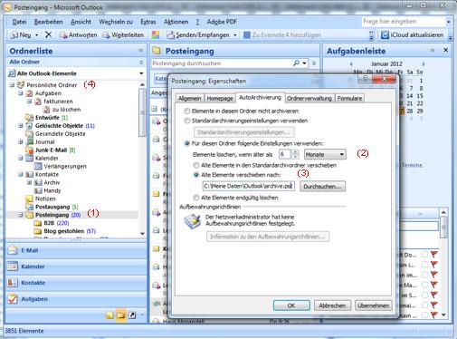 Microsoft Outlook Autoarchivierung