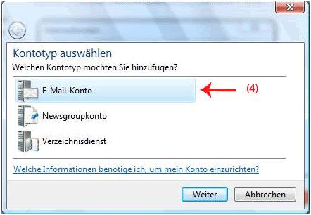 Emailadresse in Windows Mail anlegen