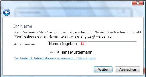 E-Mail-Konto in Windows Mail anlegen